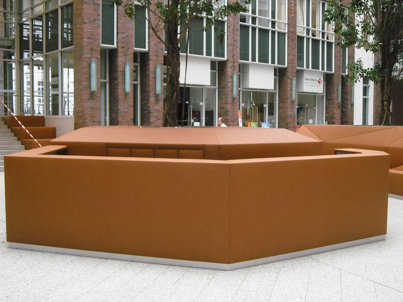 BV Fleethof Hamburg mit Leder belegten Grundkörper und den Empfangstresen