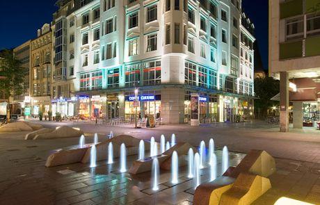 Transluzentes Mobiliar Stadt Leipzig